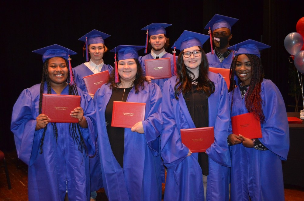 Seven students graduate from HISD's P.R.I.D.E. Academy